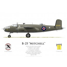 "B-25B Mitchell ""Bat out of Hell"", Lt William Farrow, USS Hornet, Raid Doolittle, 18 avril 1942"