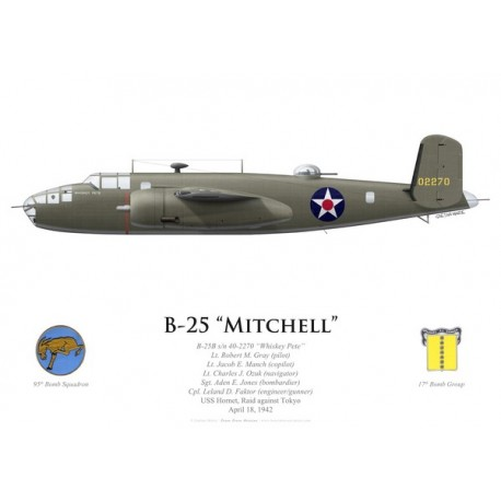"B-25B Mitchell ""Whiskey Pete"", Lt Robert Gray, USS Hornet, Doolittle Raid, 18 April 1942"