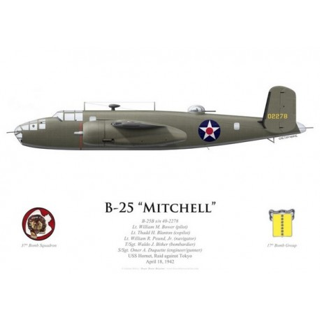 B-25B Mitchell, Lt William Bower, USS Hornet, Doolittle Raid, 18 April 1942