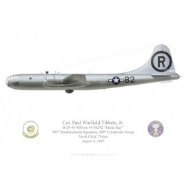"B-29 Superfortress ""Enola Gay"", Col. Paul Tibbets, 393rd BS, 509th CG, USAAF, 6 août 1945"