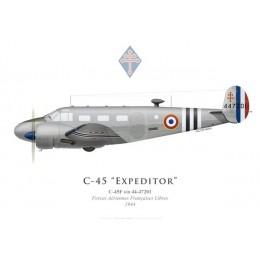 C-45F Expeditor, Forces Aériennes Françaises Libres, 1944