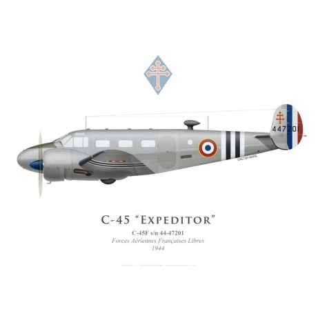 C-45F Expeditor, Free French Air Forces, 1944