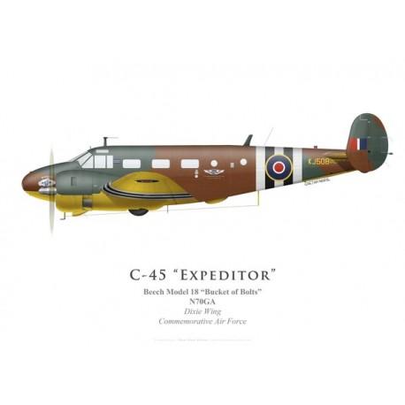 Beech Model 18, N70GA, Dixie Wing, Commemorative Air Force