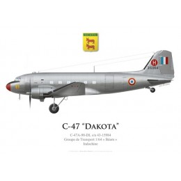 "C-47A Dakota, Groupe de Transport 1/64 ""Béarn"", French Air Force, Indochina"