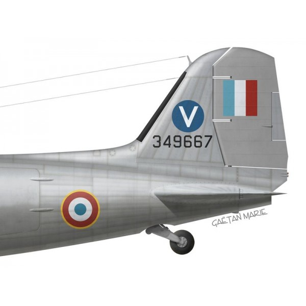 "par G. Marie GT 2//64 /""Anjou/"" French AF Print C-47 Dakota Indochine"