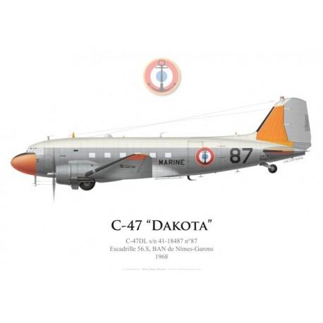 C-47 Dakota n°87, Escadrille 56.S, French Naval Aviation, Nîmes-Garons airbase, 1968