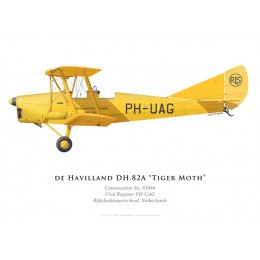 Tiger Moth, Rijksluchtvaartschool, Pays-Bas