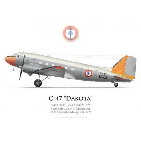 C-47 Dakota n°25, Section de Liaison de Madagascar, BAN Andrakaka, 1971