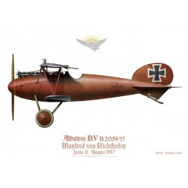 "Albatros D.V, Manfred von Richthofen ""The Red Baron"", Jasta 11, 1917"