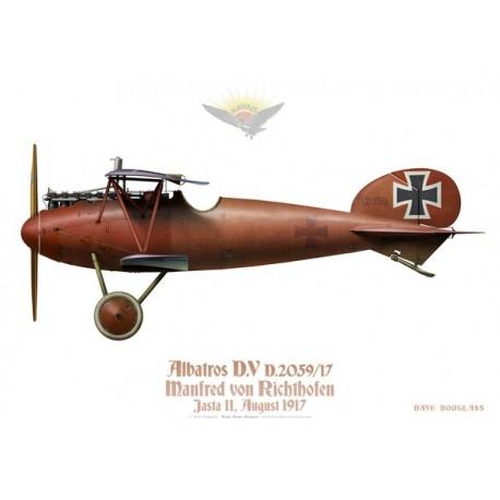 """Albatros D.V, Manfred von Richthofen """"The Red Baron"""", Jasta 11, 1917"""