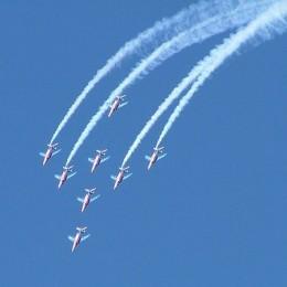 Aerobatic demonstration teams
