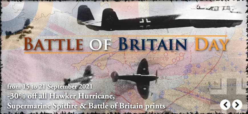 Battle of Britain Day : 30% off all Battle of Britain, Supermarine Spitfire and Hawker Hurricane prints