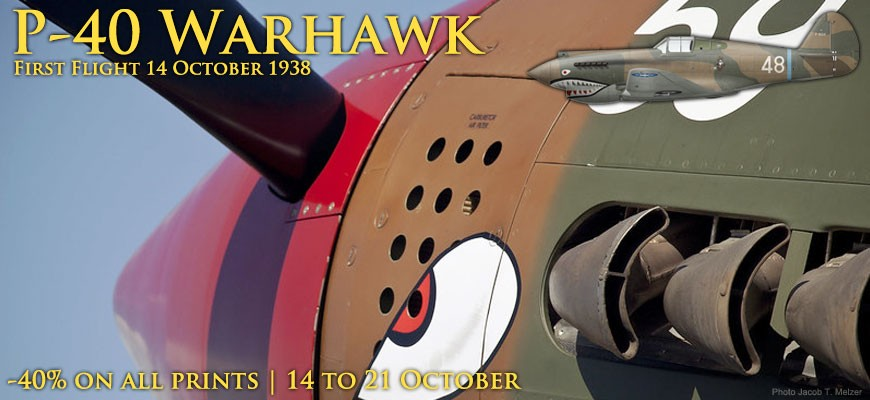 First flight of the P-40 Warhawk - 40% off all P-40 prints